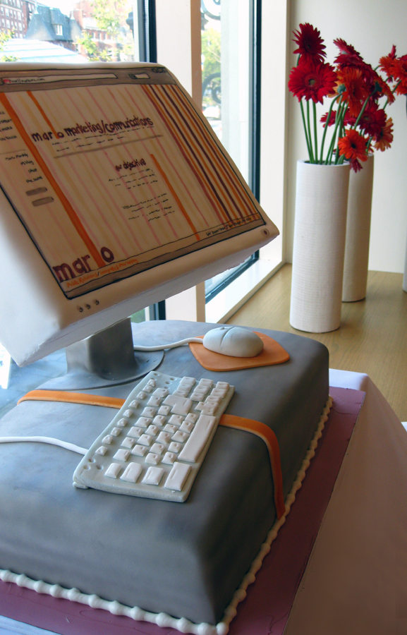 Sculpted Computer Cake