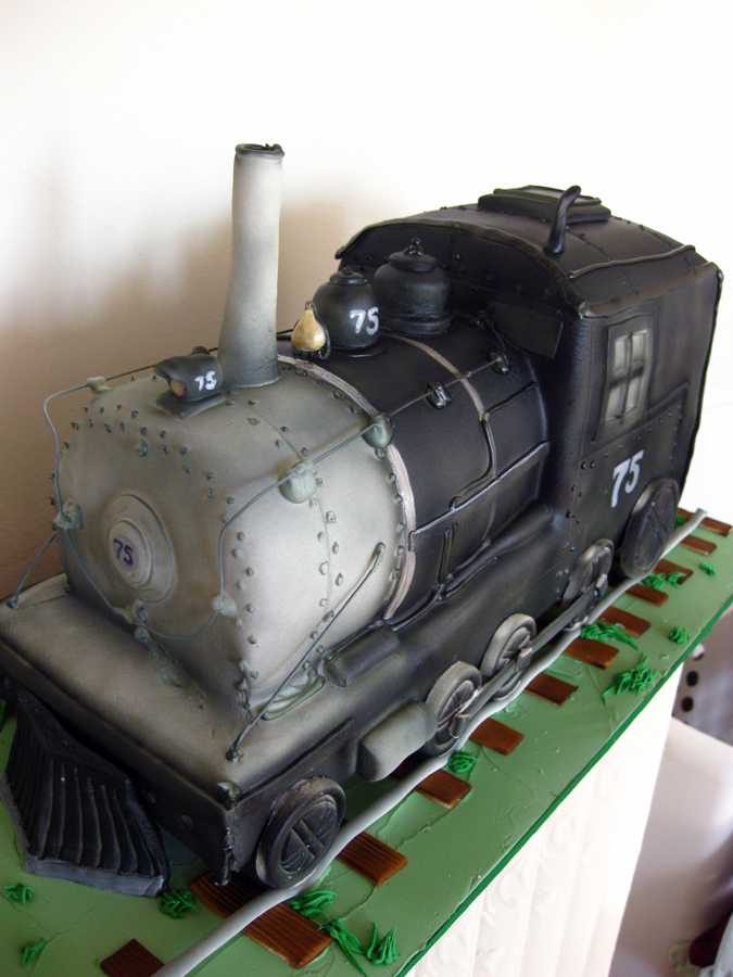 Steam Engine Sculpted Cake