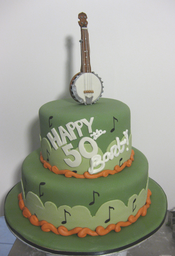 Banjo Blue grass birthday cake