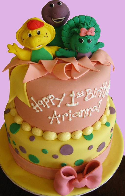 Barney and friends birthday cake med
