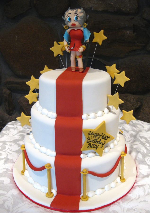 Betty Boop red carpet cake