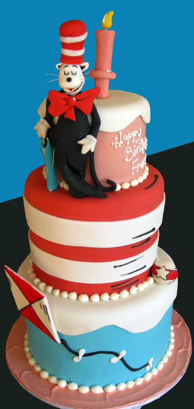 Cat in the hat Dr Seuss Cake med
