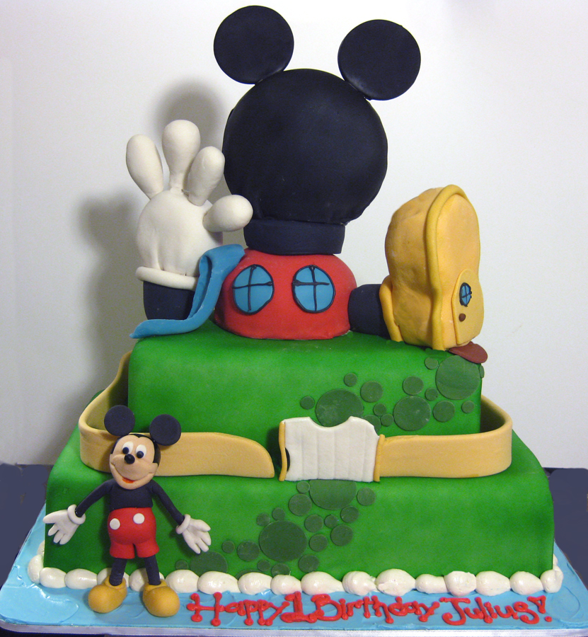 Mickey Mouse Clubhouse Sculpted Cake