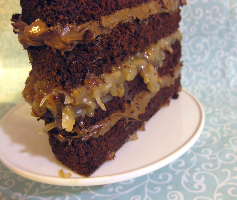 German Chocolate Cake from Amanda Oakleaf Cakes