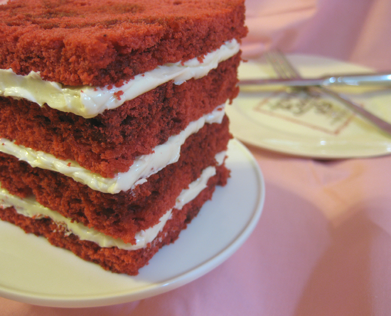Red velvet cake from Amanda Oakleaf Cakes