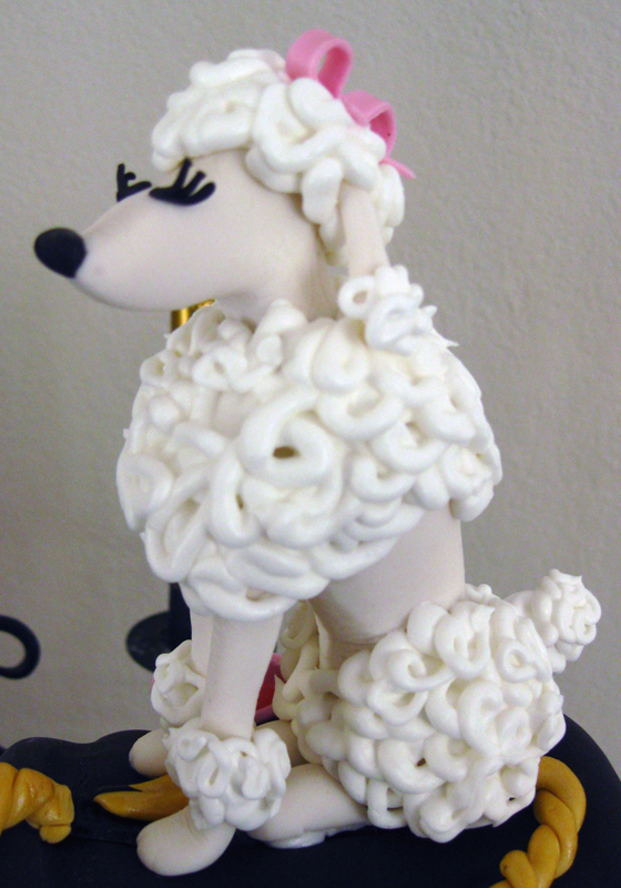 Poodle Sugar Figurine
