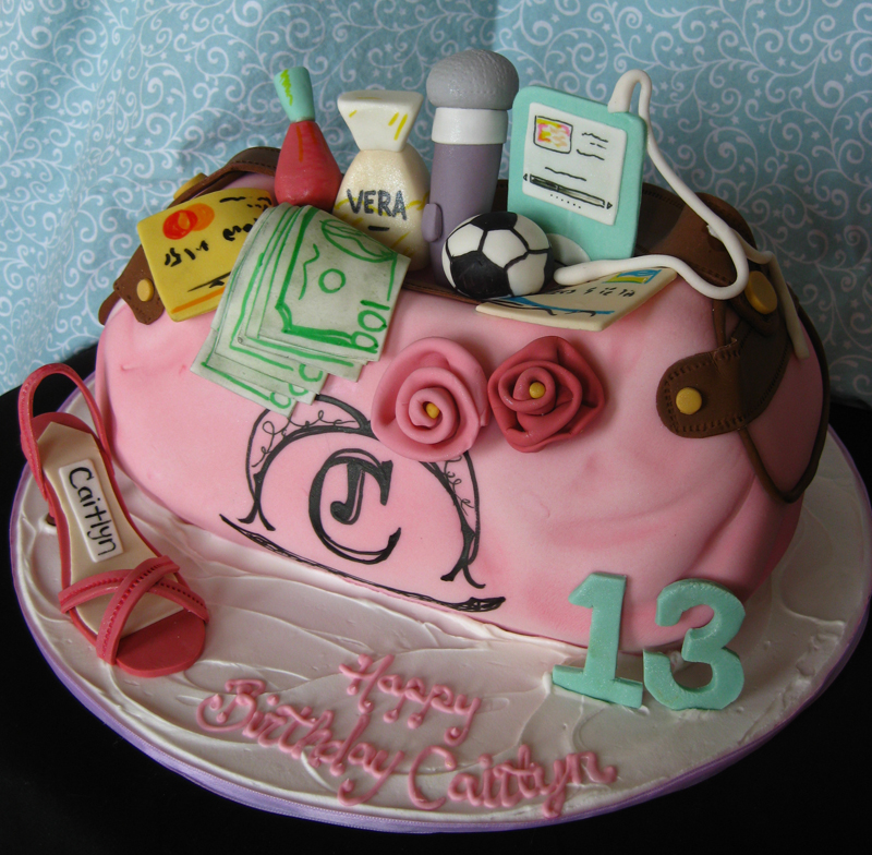 Filled Juicy Couture Sculpted Purse Cake