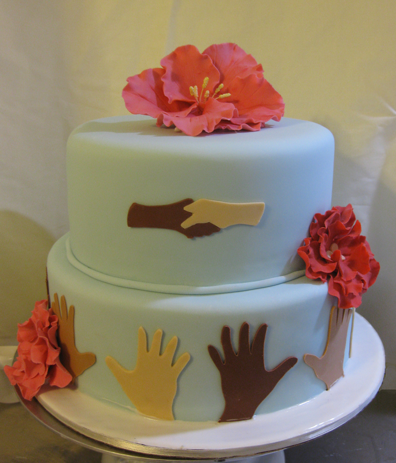 Helping Hands for Haiti Cake