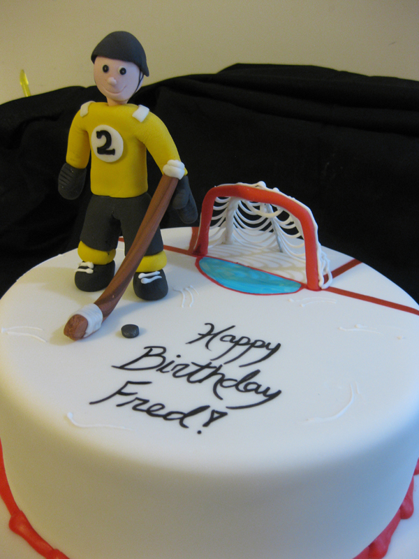 Custom Hockey Birthday Cake
