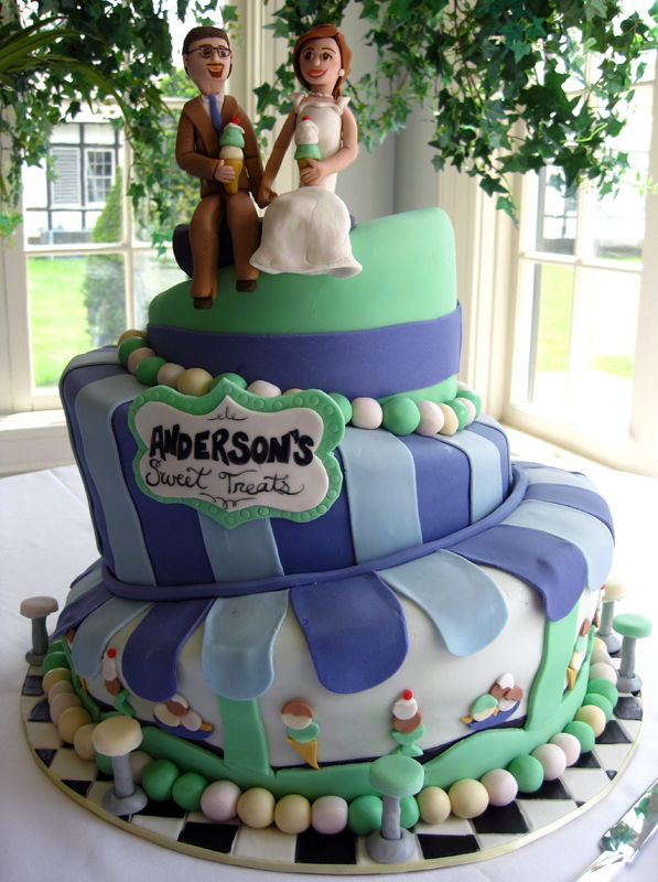 Custom Ice Cream Themed Wedding Cake