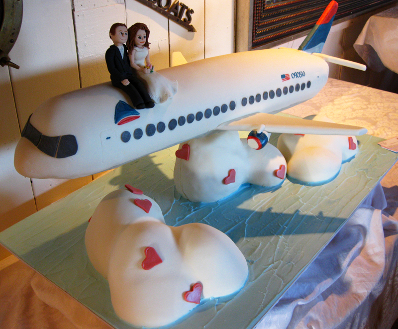aircraft wedding cake transportation weddings oakleafcakes 10633