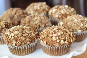 Pumpkin Streusel Muffins med