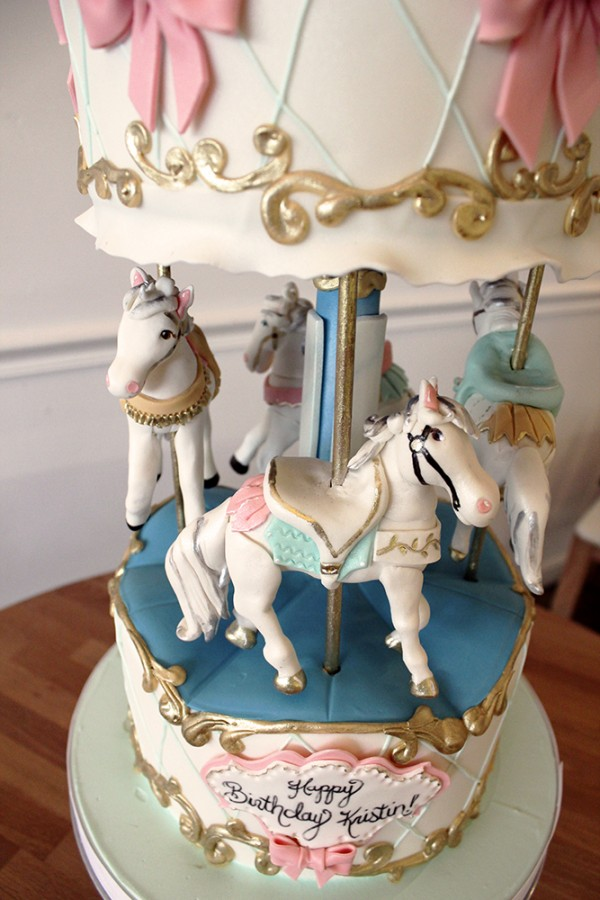 Carousel Cake Close up