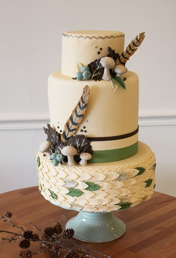 Krystle's Winter and Spring Forest Wedding Cake
