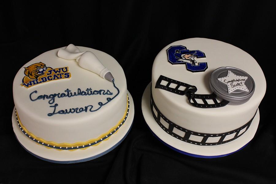Twins-Graduation-Cakes